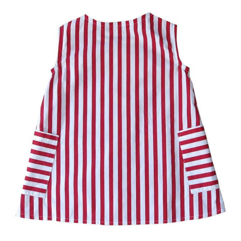 swell & solis promenade dress red and white stripe nautical