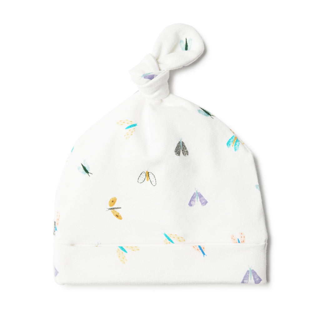 wilson & frenchy baby beanie with butterflies