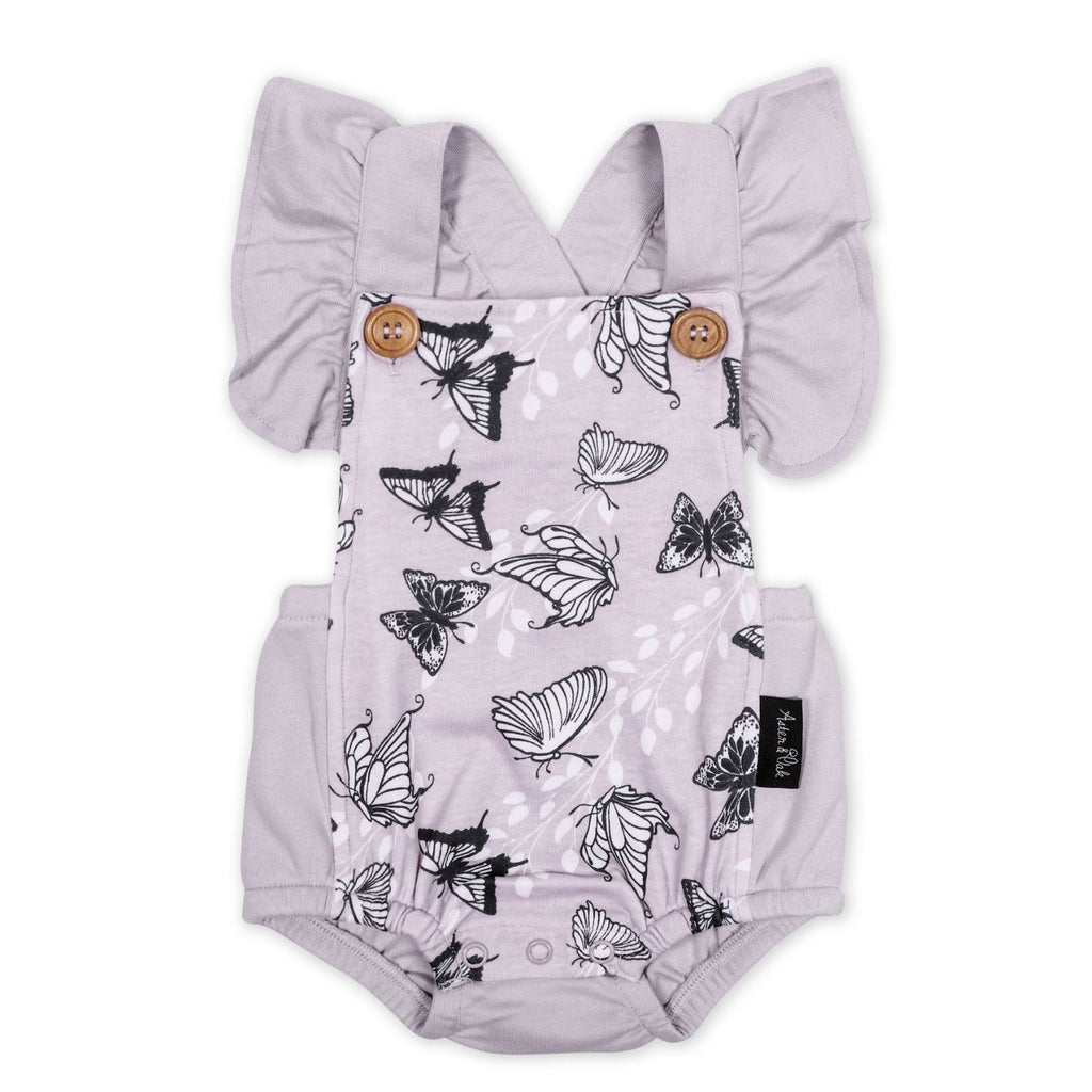 aster & oak purple organic baby and toddler playsuit