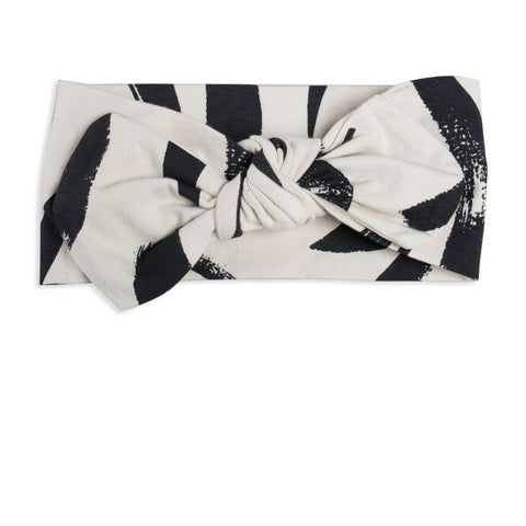 black and white baby girl top-knot headband