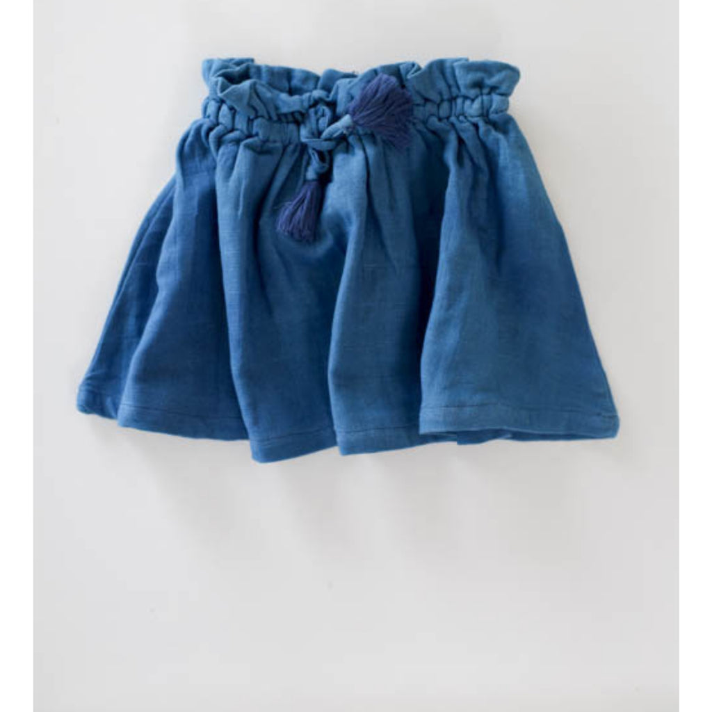 le edit ava skirt sky blue muslin organic cotton