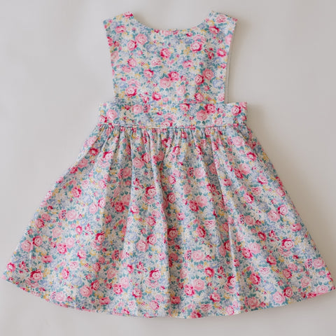 two darlings floral girls and toddler bib dress