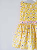 close up of oobi yellow girls dress party special occasion
