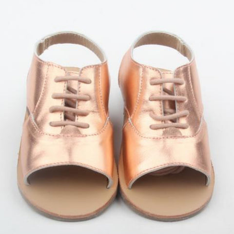 shiny girls and toddler sandals rose gold anchor & fox shoes