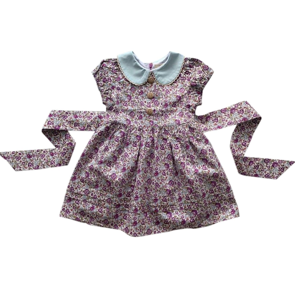 poppy harper the label purple floral vintage style dress