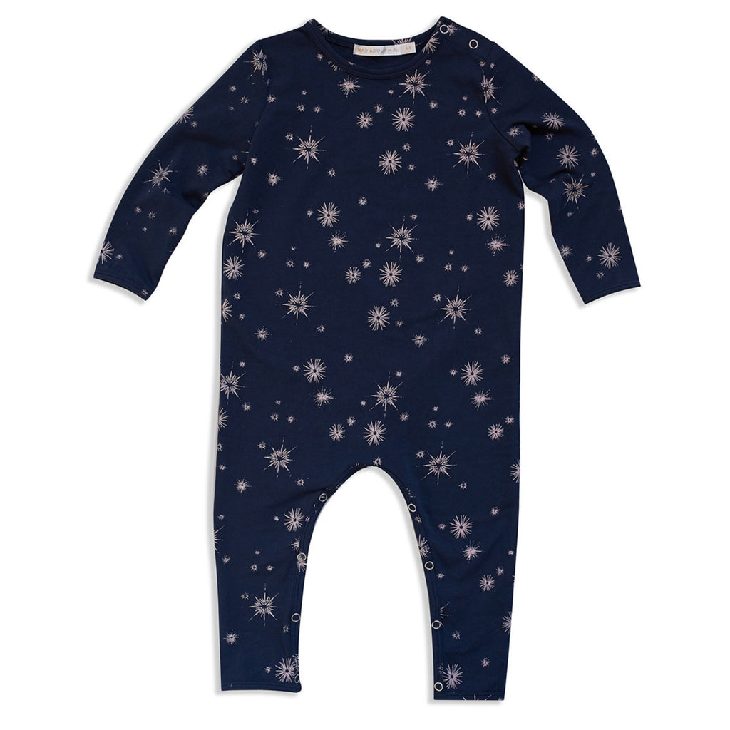 navy long sleeve jumpsuit for baby girls