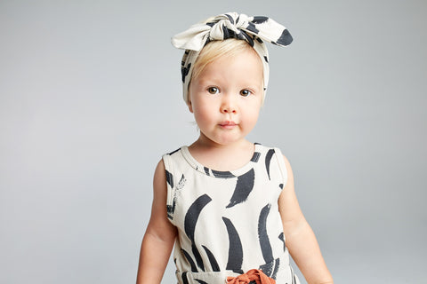 mad about mini organic baby girl black and white romper