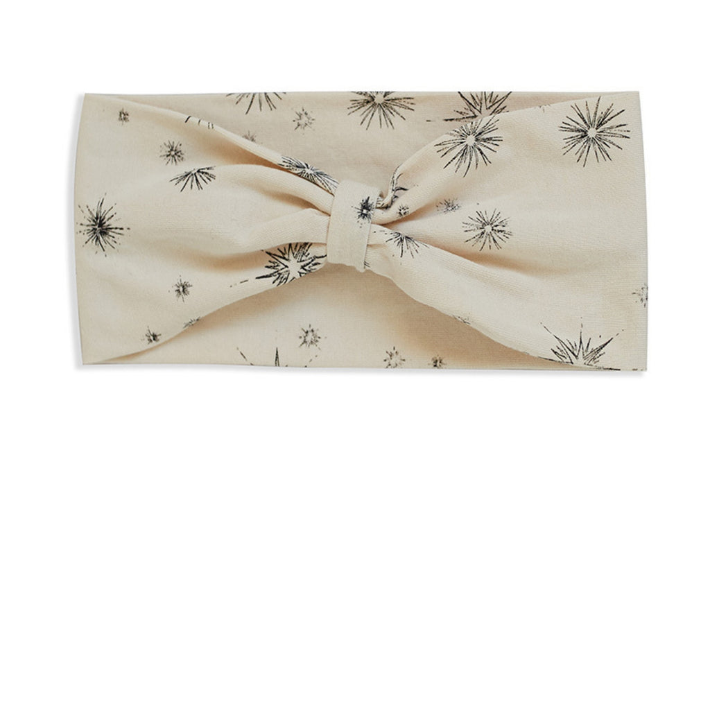 mad about mini cream organic gathered headband vanilla star