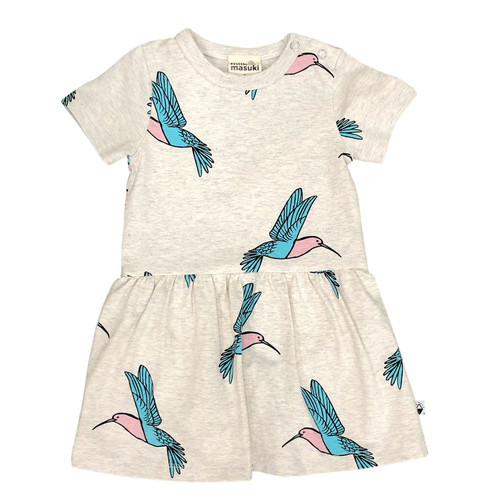 organic baby dress with built-in bloomers by Milk & Masuki