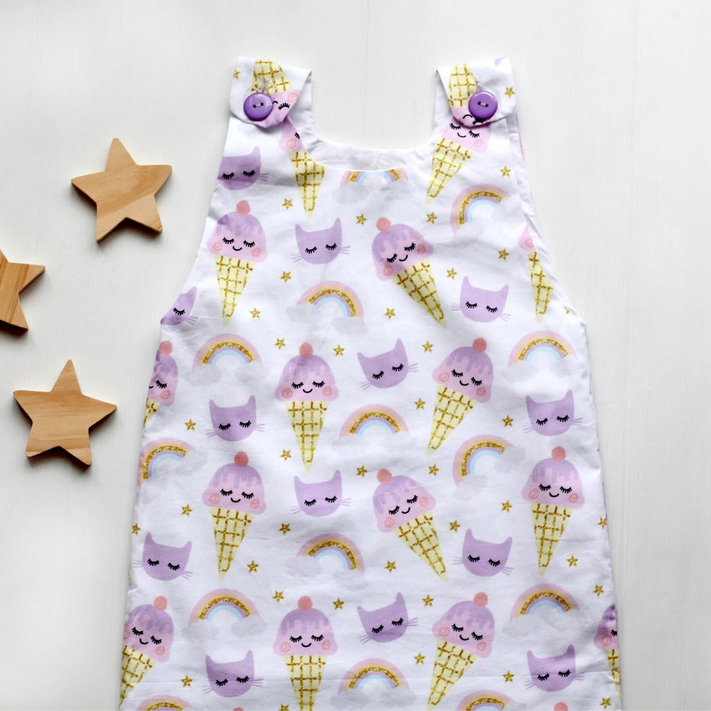 The princess and the frock ice cream tunic dress with rainbows