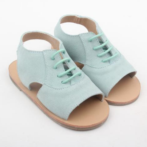 girls and toddler seafoam suede summer sandals by anchor & fox
