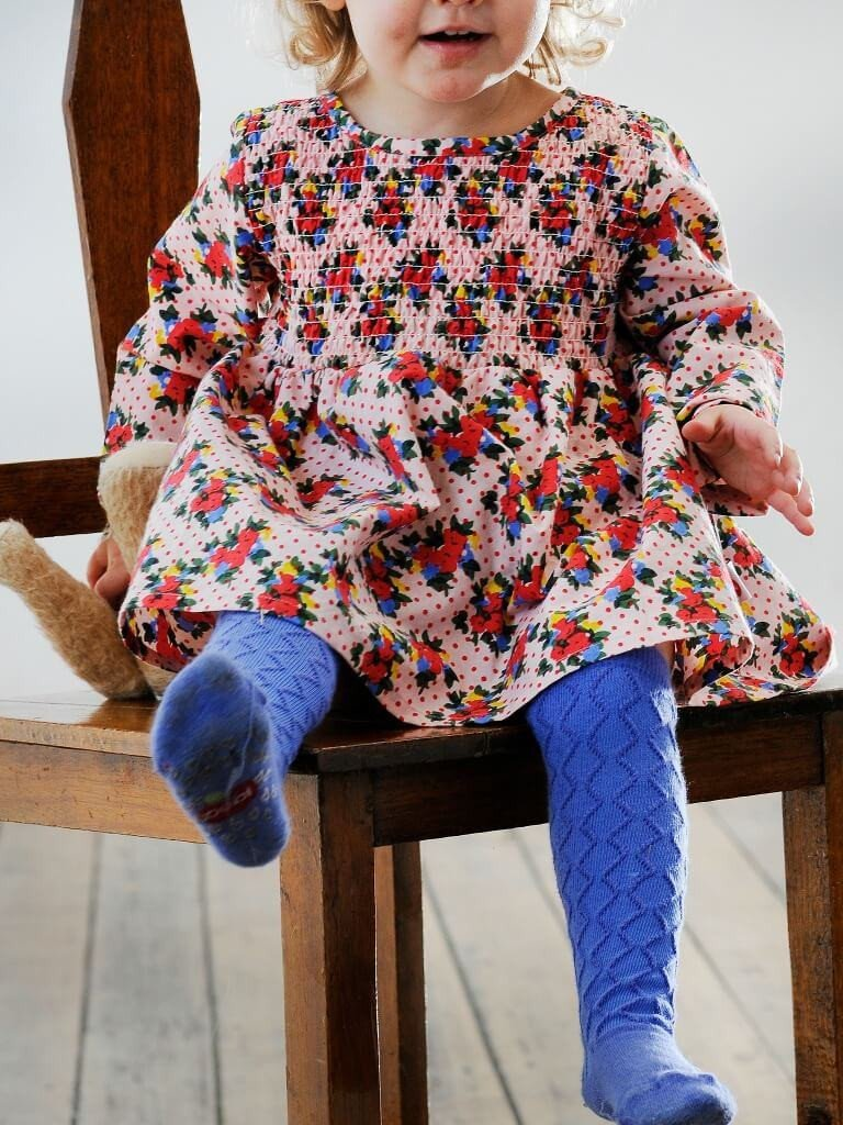 Cornflower blue baby socks ethically made accessories cotton Oobi