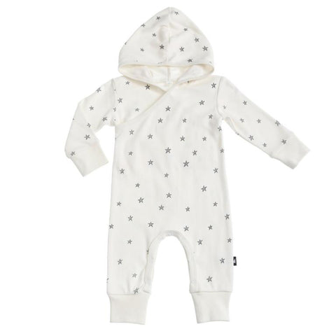 organic cotton hooded baby romper anarkid