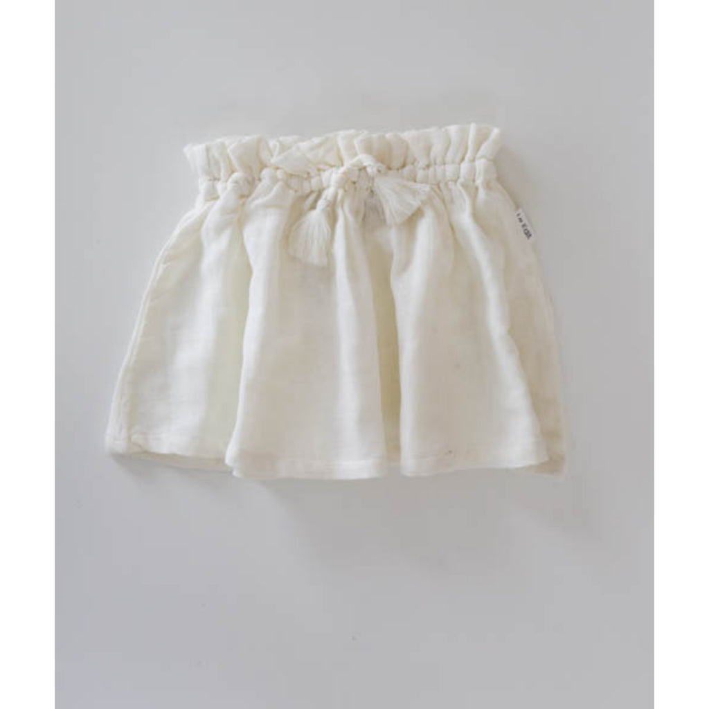 le edit ava white toddler skirt organic muslin cotton