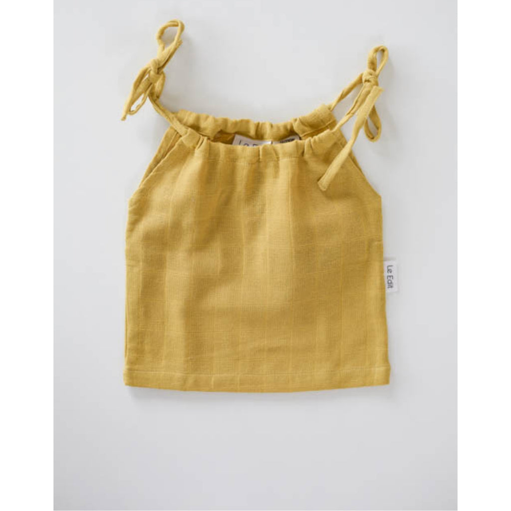 le edit sunshine marni singlet organic muslin cotton