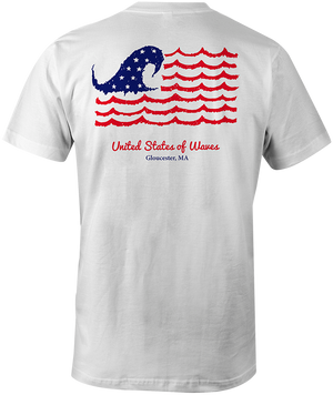 United States of Waves t-shirt (white)