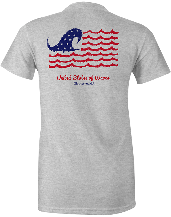 United States of Waves short sleeve t-shirt