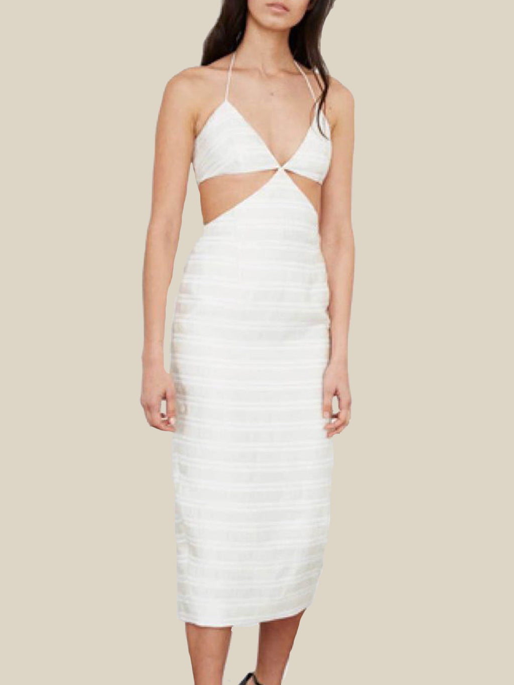mlm label palm midi dress