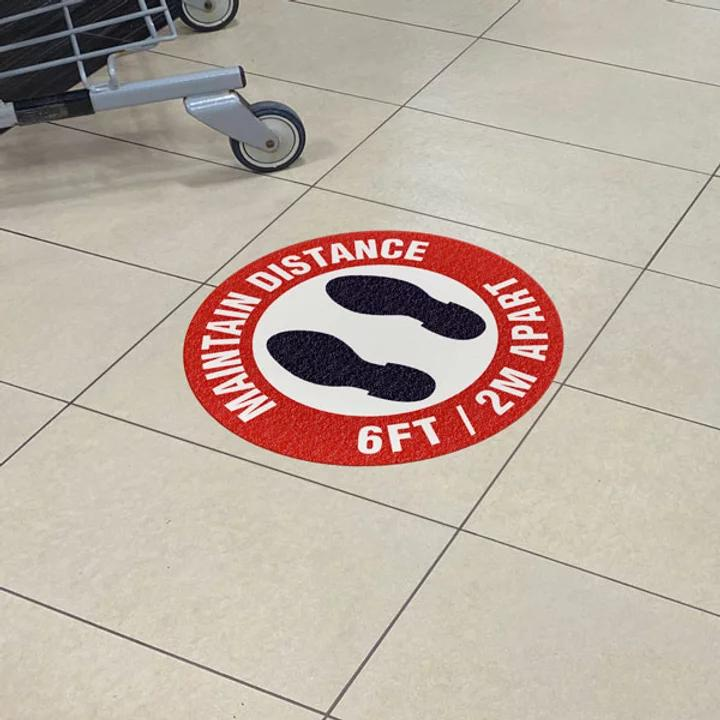 Floor Sign at shopping