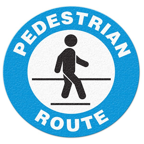 Pedestrian Route Non Slip Floor Sign