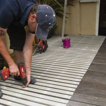 Installation of Safe Way Traction decking strips