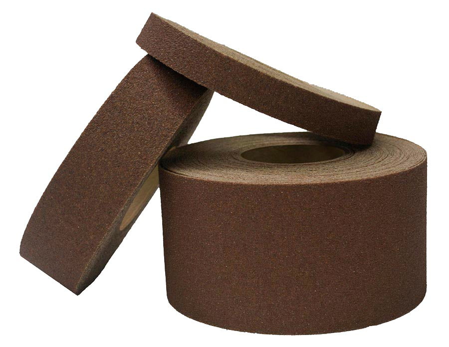 "4"" X 30' Foot Roll Master Stop Abrasive Grit Anti Slip Non Skid Safety Tape Brown 88406S Case of 3 Rolls"