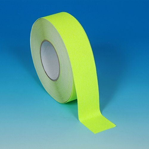 "2"" X 60' Foot Roll Heskins Safety Grip Anti Slip Tape Fluorescent Yellow NSTS2F"