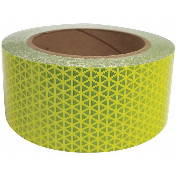 "2"" Orafol Oralite V98 Conformable Fluorescent Lime Reflective Safety Tape 20535"