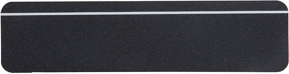 "6"" X 24"" BLACK with GLOW Stripe Abrasive Tread - Case of 48 - Drop Ships"