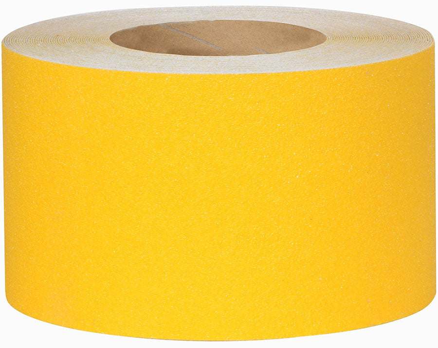 "4"" Wide X 60' Roll Safety Track 3300 Abrasive Anti Slip Non Skid Tape Yellow 3335-4"
