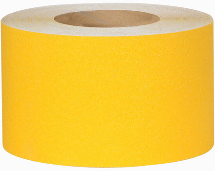 "4"" X 60' Roll YELLOW Abrasive Tape - Case of 3"
