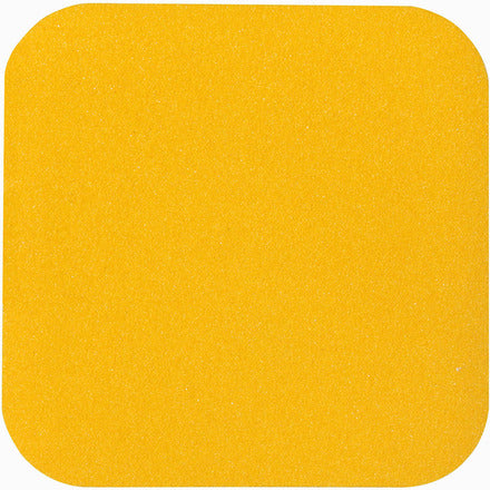 "5.5"" x 5.5"" Abrasive Anti Slip Non Skid Safety Track Tape Yellow 3335-5.5x5.5 - Case of 50"