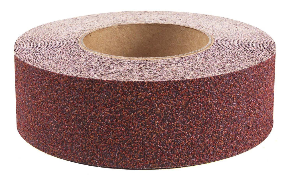 "2"" Wide X 60' Foot Roll Jessup Safety Track Abrasive Anti Slip Non Skid Tape Brick Red 3340-2"