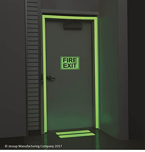 "6"" x 24"" Glow in the Dark Non-Slip Tread - Case of 10"