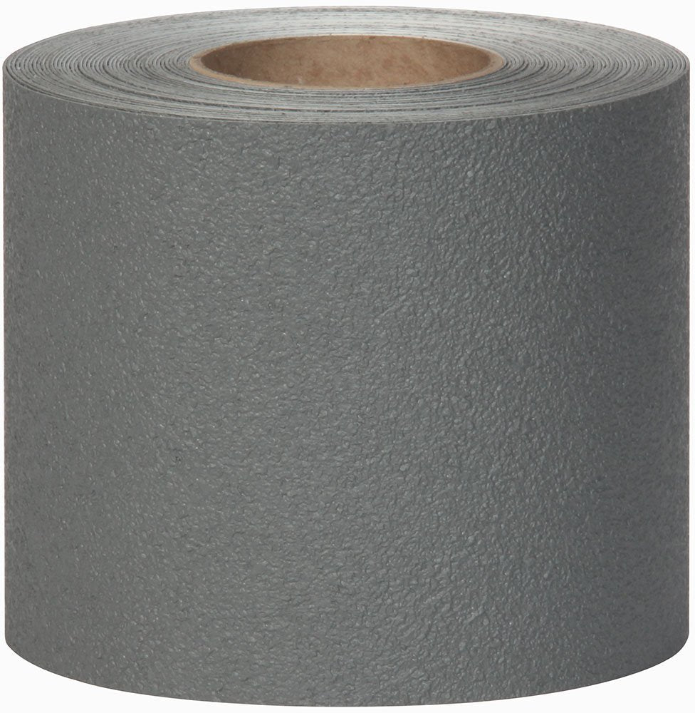 "6"" X 60' Roll Jessup Safety Track Coarse Resilient Anti Slip Non Skid Safety Tape Gray 3620-6"