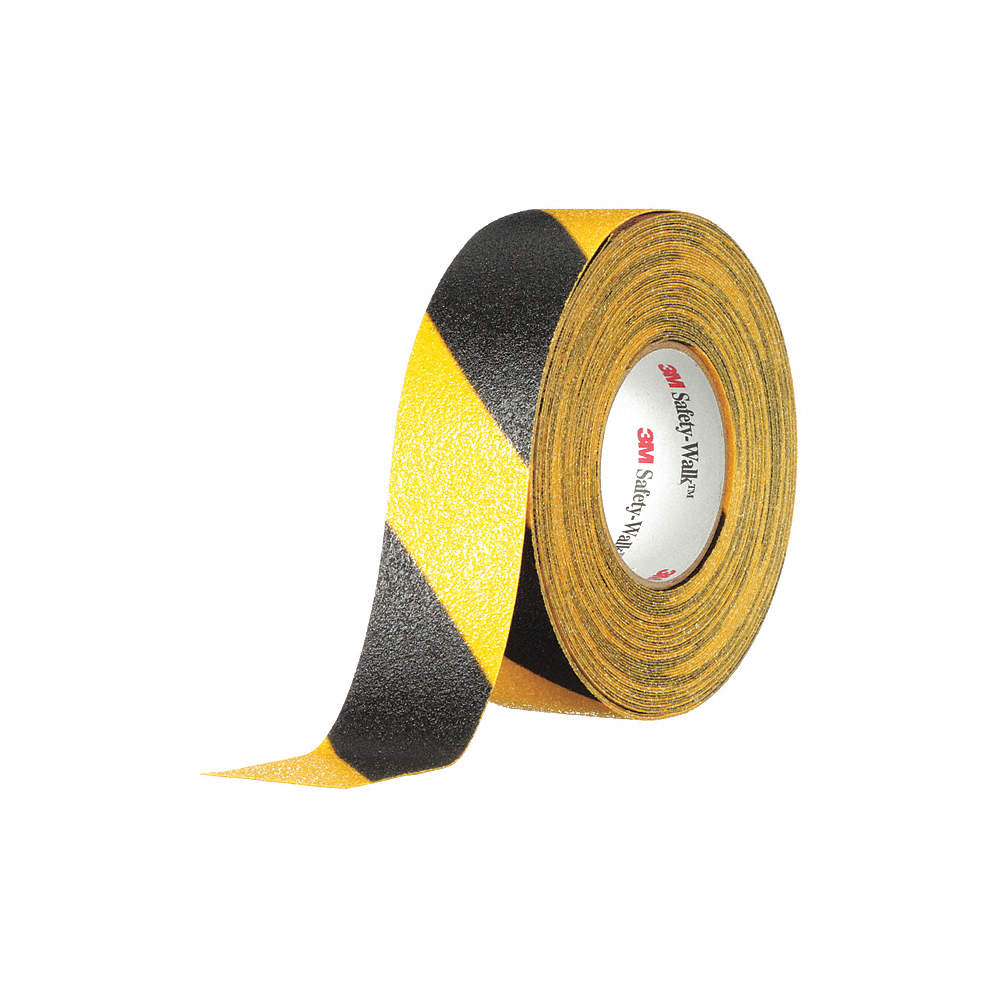 "25% Savings With Code 25OFFTODAY - 2"" X 60' Roll BLACK & YELLOW 3M Abrasive Tape - Limited Stock"