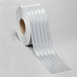 "4"" x 10' Roll 3M 3310 High Intensity Prismatic Work Zone Reflective Sheeting Safety Tape White 75-0301-9241-5"