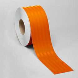 "4"" x 10' Roll 3M 3314 High Intensity Prismatic Work Zone Reflective Sheeting Safety Tape Orange 75-0301-9247-2"