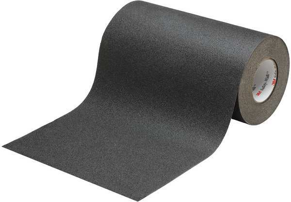 "12"" X 60' Foot Roll 3M 610 Safety Walk Treads Abrasive Grit Anti Slip Non Skid Tape Black 70-0716-6708-6"