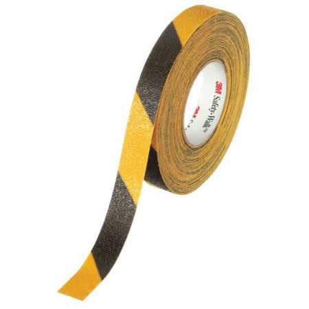 "1"" X 60' Roll BLACK & YELLOW 3M Abrasive Tape"
