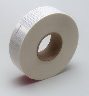 "2"" x 12' Foot Roll 3M 983-10 Series DOT Reflective Conspicuity Tape Pressure Sensitive Adhesive 75-0301-2248-7"