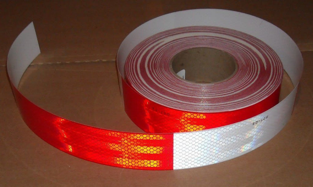 "2"" x 150' Roll RED & WHITE 3M DOT Reflective Tape"