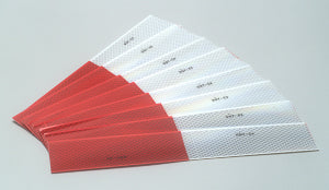 "2"" x 12"" Package of 10 Strips 3M DOT Reflective Conspicuity Safety Tape 983-326 Series"