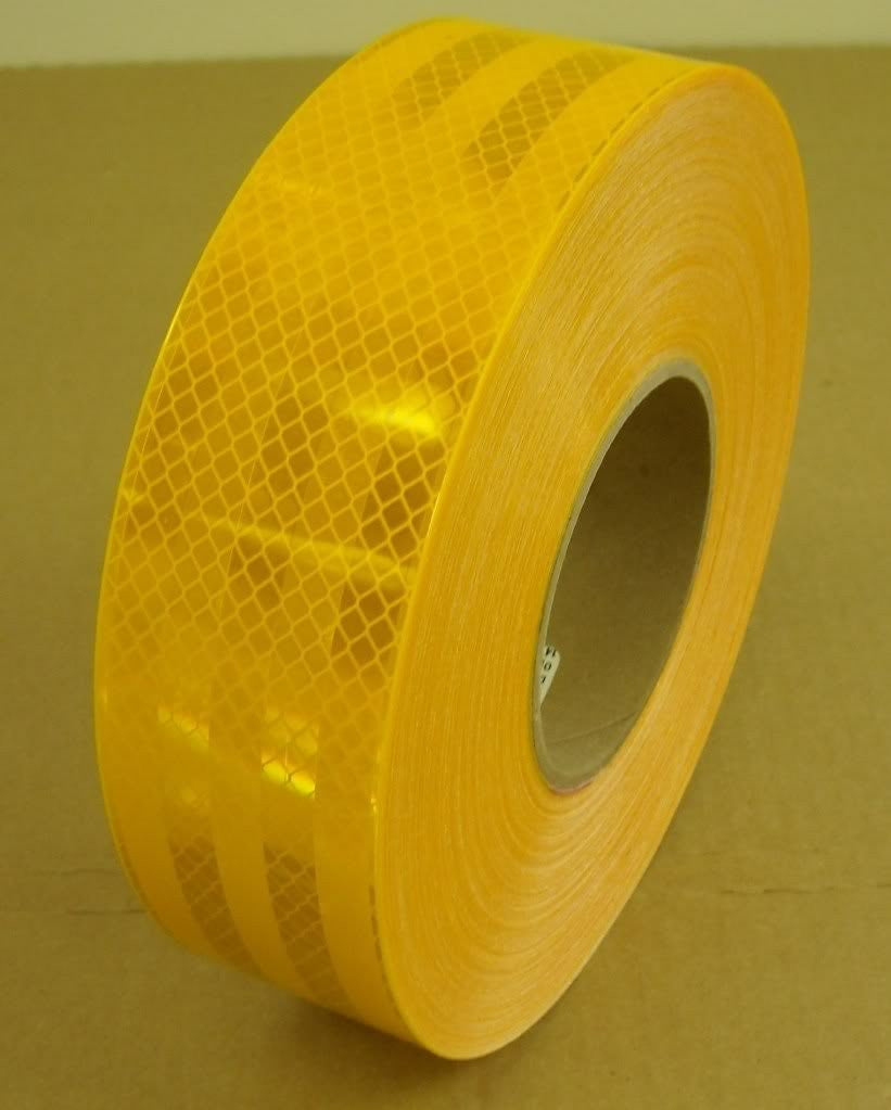 "2"" x 12' Foot Roll 3M 983-71 Series Reflective Conspicuity Safety Tape School Bus Yellow 75-0301-2297-4"