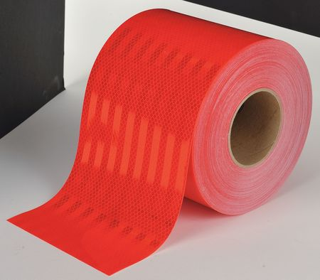 "6"" x 10' Roll 3M Reflective Conspicuity Tape 983-72-6NL Solid Red"
