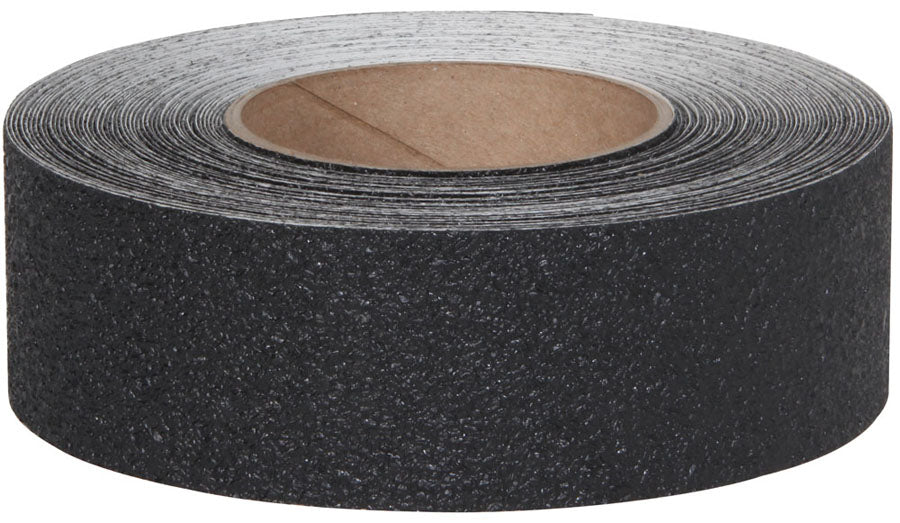 "2"" X 60' Roll BLACK Coarse Vinyl Tape  - Case of 6"
