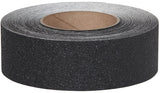 "2"" X 60' Roll BLACK Coarse Vinyl Tape  - Pkg of 6 -  10 Day Processing"