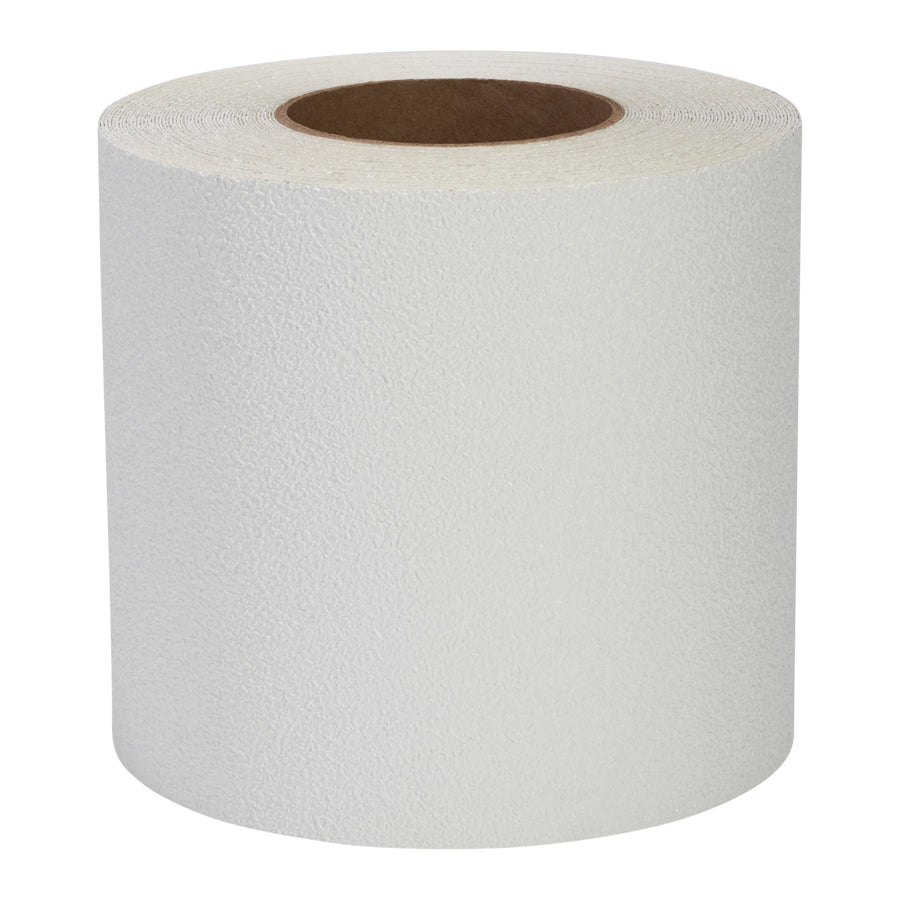"6"" X 60' Roll Flex Track Vinyl Coarse Anti Slip Tape White / Case of 2 Rolls"
