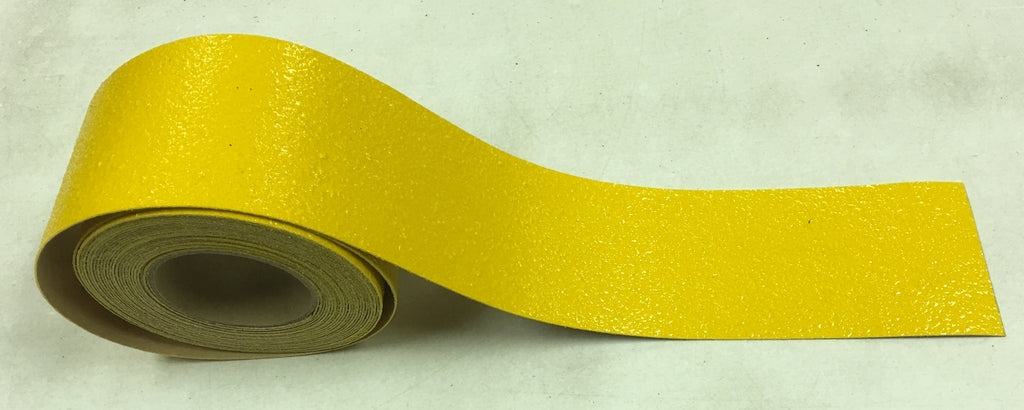 "4"" x 30' Roll Abrasive YELLOW Extreme Adhesive Medium Grit - Case of 3"