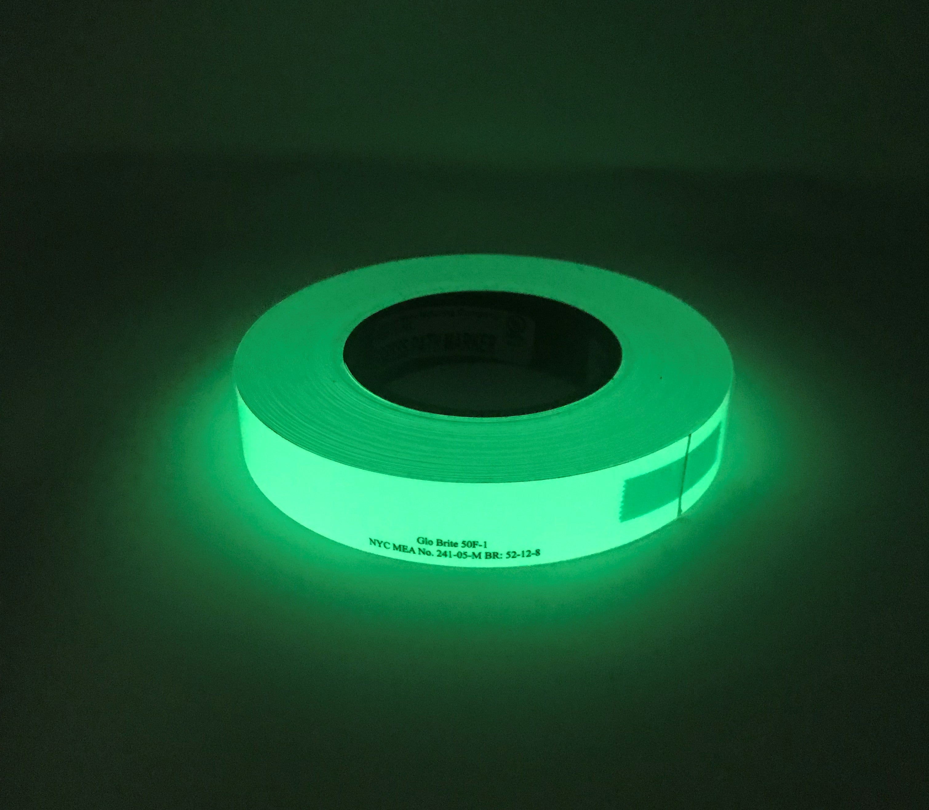 "Special Offer Only 2 Rolls Available - 1"" x 100' Roll GLOW IN THE DARK Emergency Egress Tape 50F-1 - Enter Code 50OFFTODAY at checkout for 50% Savings"